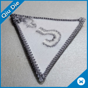 Triangle Lockrand Shape Embroidered Patches for Clothing pictures & photos