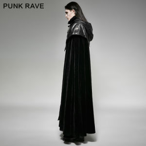 Y-693 Punk Rave New Nesign Gothic Style Hooded Cape Carved Retro Delicate Long Coat pictures & photos