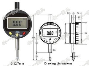 Electronic Digital Indicator Clocks 12.7mm 25.4mm Dial Indicators pictures & photos