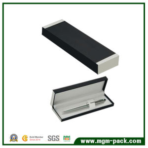 Fashion Black Paper Wrapping Single Plastic Pen Box pictures & photos