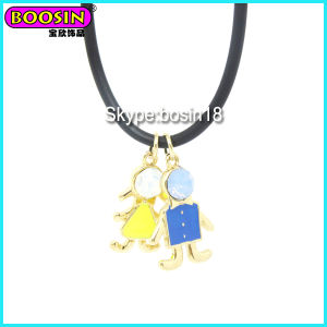 Fashionable Cute Enamel Metal Boy Charm Necklace pictures & photos