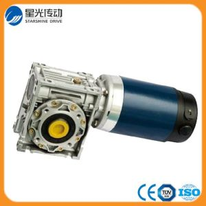 Aluminum Body Nmrv Worm Gear Reducer with DC Motor pictures & photos