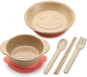 Non-Toxic Rice Husk Fibre Children Tableware Set #4 pictures & photos