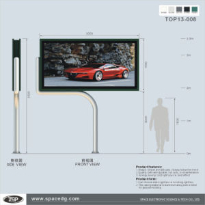 New Design Single Side Scrolling Pole Supported Light Box pictures & photos