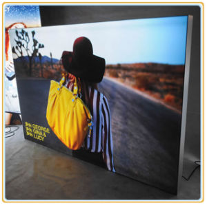 Aluminum Edge-Lit Frameless Light Box pictures & photos