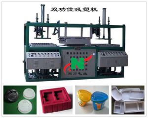 Semi-Auto Two Station Plastic vacuum Forming Machine Mini Thermoformer pictures & photos