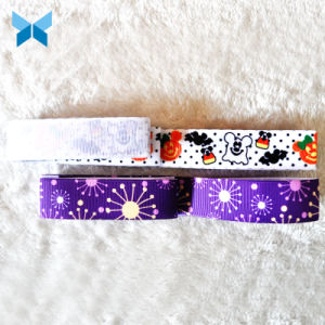 Custom Premium Quality 16mm Grosgrain Ribbon Printed Taffeta Ribbon with Your Logo pictures & photos