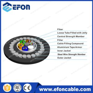 144 Core Direct Burial Armoured Fiber Optical Cable pictures & photos