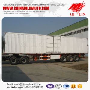 Shacman Tractor 3 Axles Closed Box Truck Trailer for Sale pictures & photos