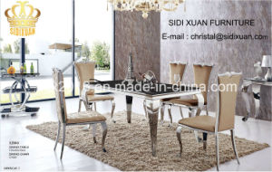 Dining Table Sets Glass Dining Table 6 Chair Modern Stylish Dining Room Set Furniture pictures & photos