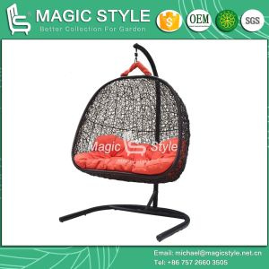 Rattan Swing Modern Wicker Swing Patio Hammock with Cushion (Magic Style) pictures & photos