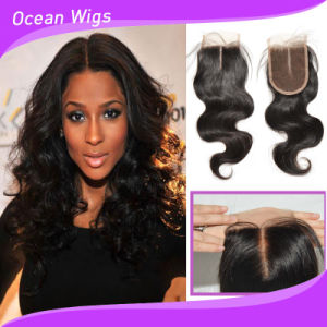 """3.5"""" Swiss Lace Indian Virgin Hair Lace Closure (CL-023) pictures & photos"""
