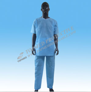 Nonwoven Disposable Doctor Suits, SMS Doctor Uniform for Surgical pictures & photos