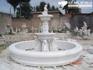 Marble Fountain, Carved Stone Fountain and Outdoor Garden Fountain pictures & photos