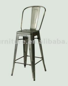 619A-H65-St Industrial Back Bar Chairs