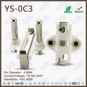 Yysr Brand 250V Korea Two Pin Power Plug pictures & photos