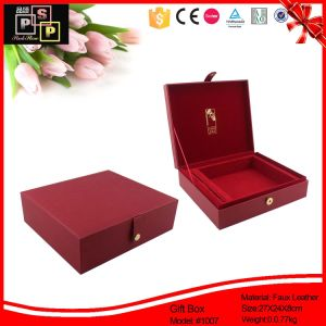 Wholesale Products Wooden Leather Warpping Jewelry Box (1007) pictures & photos