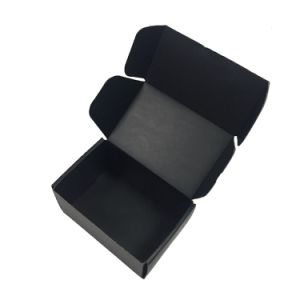 Hot Sale Matt Black Corrugated Shipping and Packing Box pictures & photos