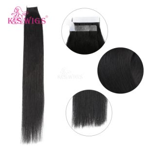 K. S Wigs Top Grade Remy Indian Human Hair Tape Hair Extensions pictures & photos