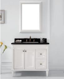 Wooden One Main Cabinet Mirrored Modern Bathroom Cabinet (JN-8819715B)