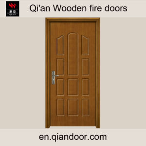 Teak Wood Fire-Rated Fireproof Door pictures & photos