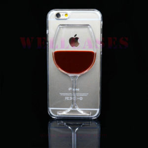 Wholesale Liquid Oil Glass Mobile Phone Case for Samsung/iPhone
