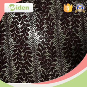 Fast Delivery Leaf Pattern Warp Knitted Guipure Lace Fabric pictures & photos