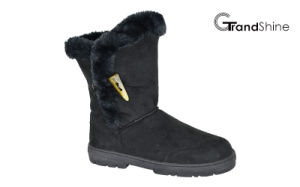 Women′s New Arrival Snow Lo Button Boots with Fur Collar