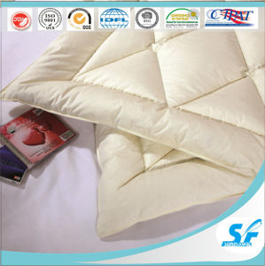 Goose Duck Down Feather Diamond Quilting Mattress Topper pictures & photos