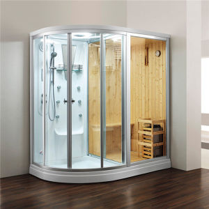 Sauna Shower Steam Three in One Combination Cabinet Room (M-8251) pictures & photos