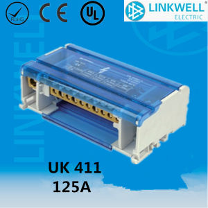 Screw Connection DIN Rail Mount Busbar Wire Block Connector with CE Certificate (UK 411) pictures & photos