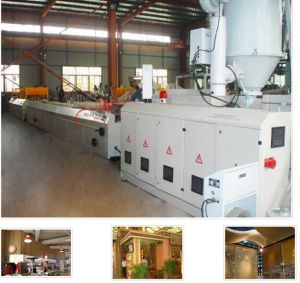 PVC-Wood Single-Screw Extrusion Line (With Natural Wooden Grain) pictures & photos