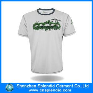 Custom Promotional White Printed T-Shirt Factory /Men′s T-Shirt