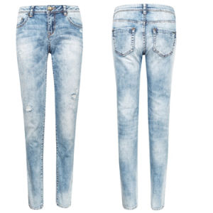2016 Wholesale Fashion Women Cotton Blue Denim Jeans pictures & photos
