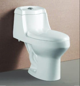 Siphonic One Piece Sanitary Ware/Ceramic Toilet/Bathroom Toilet (690X435X550mm) pictures & photos