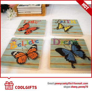 2016 High Quality Absorbent Ceramic Cork Coaster for Christams Gift pictures & photos