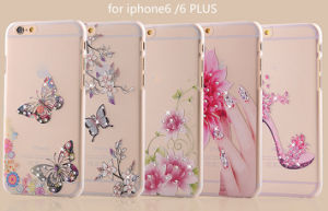 Crystal TPU Case for iPhone6 Diamond Butterfly Cover pictures & photos