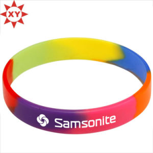 Colorful Silicon Wristband Size for Adults pictures & photos