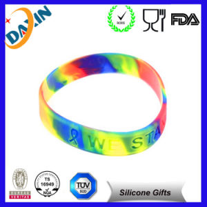 Colorful Promotional Gifts, Swirl Debossed Silicone Bracelet/Silicone Wristband pictures & photos