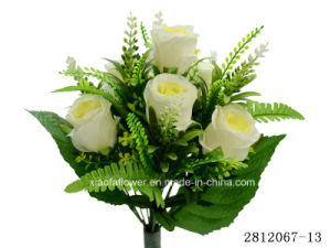 Artificial/Plastic/Silk Flower Rosebud Bush (2812067-13) pictures & photos
