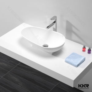 Modern Bathroom Countertop Sink Stone Hotel Wash Basin pictures & photos