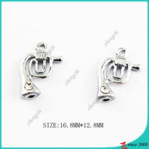 Metal Silver Zinc Alloy Metal Trumpet Charm