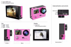 Vr360 4k Ultra HD Dual Screen WiFi Extreme Sport Outdoor Action Camera 2.4G Controller