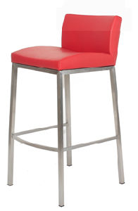 PU Low Back Mould Foam Bar Stool pictures & photos