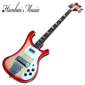 Hanhai Music / Ricken Style 4-String Electric Bass Guitar with White Binding pictures & photos