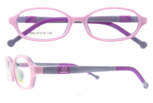Silica Gel Soft Kid Eyeglasses Multicolored Children Optical Frame pictures & photos