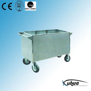 Stainless Steel Hospital Medical Laundry Trolley (Q-33) pictures & photos