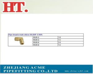 Forged Brass Pipe Fitting NPT Male Brass Fitting 90 Degree Elbow pictures & photos