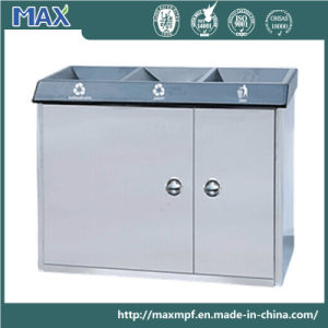 Indoor 3 Compartment Stainless Steel Recycling Bin pictures & photos