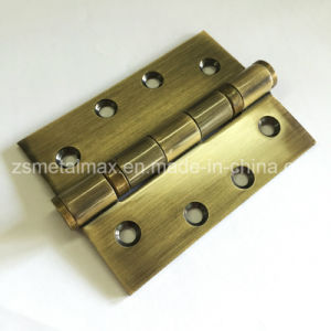 Stainless Steel 4 Inch 2 Ball Bearing Antique Brass Door Hinge (104030) pictures & photos